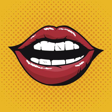Ilustración de lip female beautiful d icon vector illustration design - Imagen libre de derechos