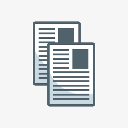 Illustration for documents paper flat icon vector illustration design - Royalty Free Image