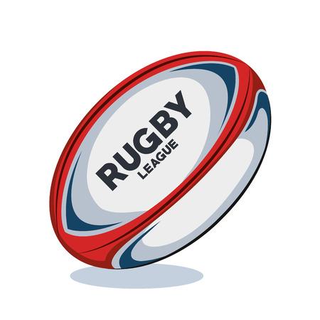 Ilustración de rugby ball red, white and blue design vector illustration eps 10 - Imagen libre de derechos