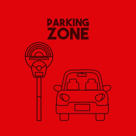 Illustration pour car icon on parking zone. colorful design. vector illustration - image libre de droit