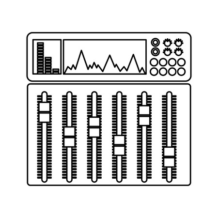 Illustration pour audio console professional icon vector illustration design - image libre de droit