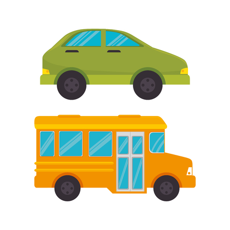 Illustration for means of transport icons vector illustration design - Royalty Free Image