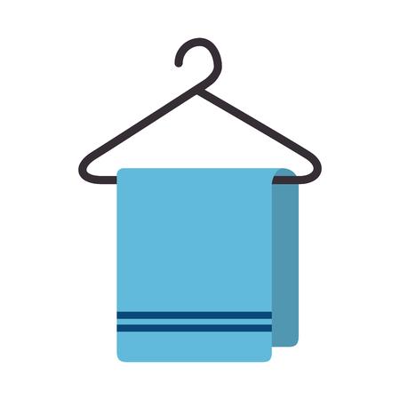 Illustration pour towel hanging isolated icon vector illustration design - image libre de droit