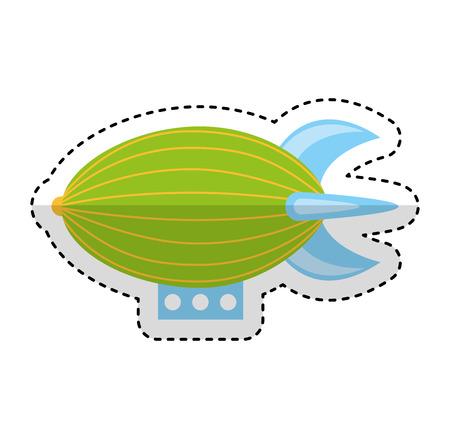 Illustration pour zeppeling vehicle isolated icon vector illustration design - image libre de droit