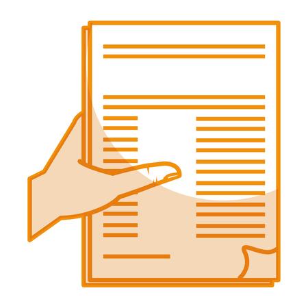 Photo pour hand human with contract vector illustration design - image libre de droit