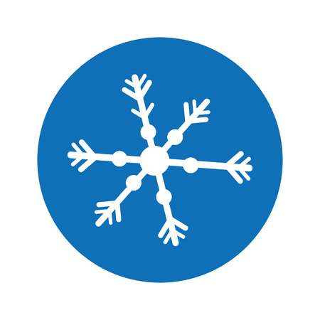 Illustration for snowflake decorative isolated icon vector illustration design - Royalty Free Image
