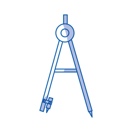 Illustration pour geometry compass isolated icon vector illustration design - image libre de droit