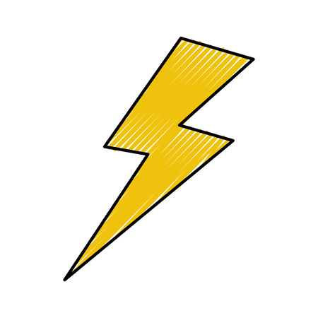 Illustration for thunder ray isolated icon vector illustration design - Royalty Free Image