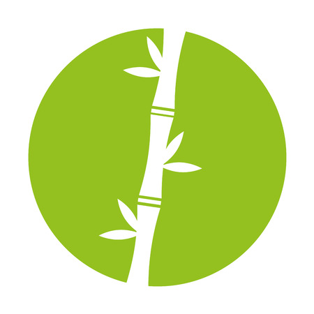 Illustration for bamboo stem natural icon vector illustration design - Royalty Free Image