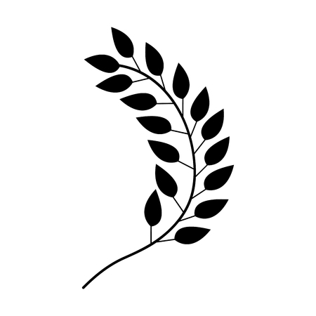 Illustration for leafs plant wreath icon vector illustration design - Royalty Free Image