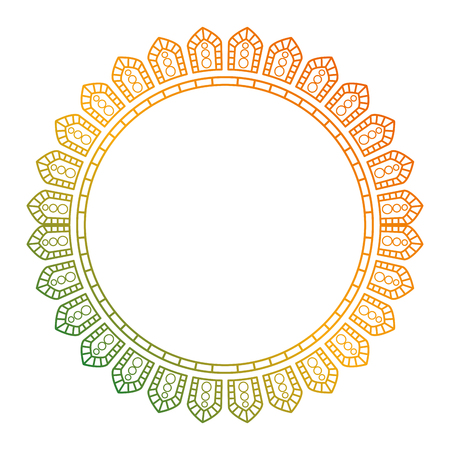 Illustration pour circular lace mandala style vector illustration design - image libre de droit