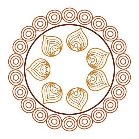 Ilustración de circular lace mandala style vector illustration design - Imagen libre de derechos