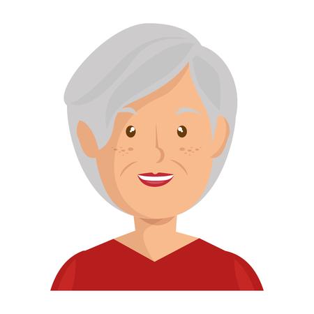 Illustrazione per cartoon old woman icon over white background vector illustration - Immagini Royalty Free