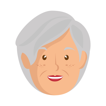 Illustration pour cartoon old woman icon over white background vector illustration - image libre de droit