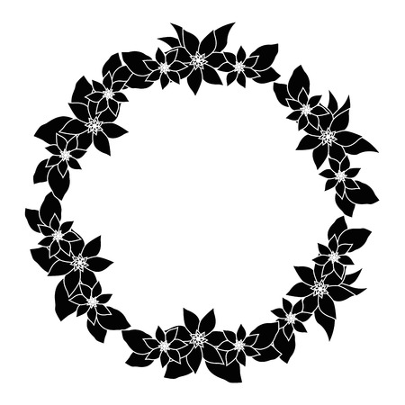 Ilustración de Round frame with flowers icon vector illustration graphic design - Imagen libre de derechos