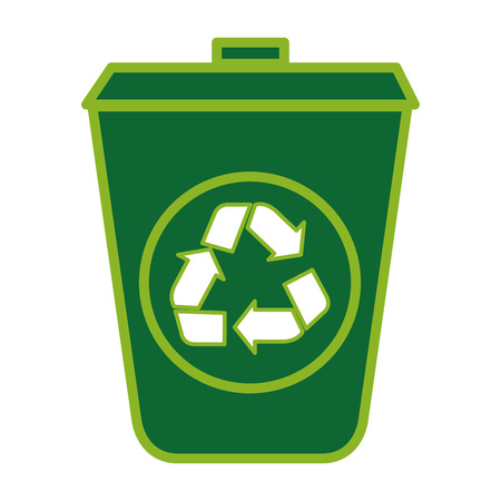 Illustration for ecology recycle bin isolated icon vector illustration design - Royalty Free Image