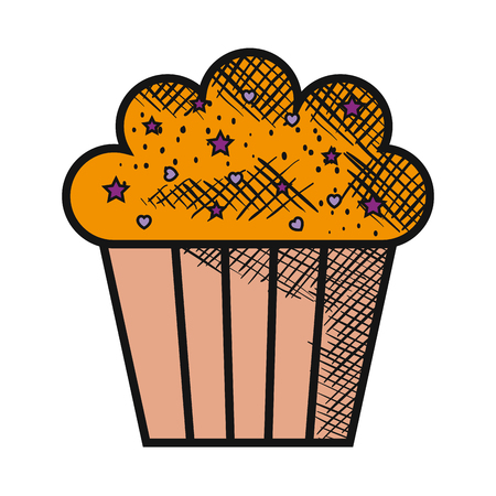 Illustrazione per delicious and sweet cupcake vector illustration design - Immagini Royalty Free
