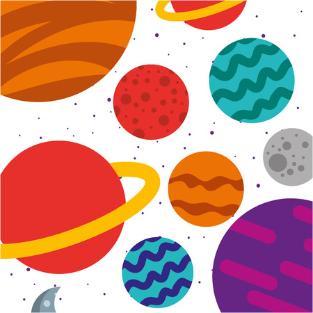 Ilustración de universe Milky Way background vector illustration design - Imagen libre de derechos