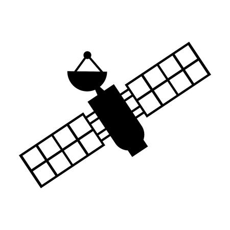 Illustration pour artificial satellite spacial icon vector illustration design - image libre de droit