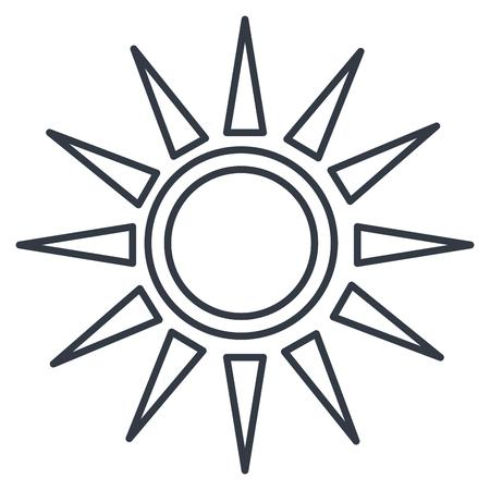 Ilustración de sun silhouette isolated icon vector illustration design - Imagen libre de derechos