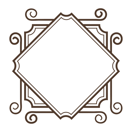 Illustration pour Elegant Victorian style frame vector illustration design - image libre de droit
