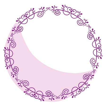Illustration pour Elegant Victorian style frame vector illustration design - image libre de droit