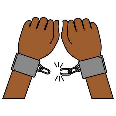 Illustrazione per hand human with handcuff vector illustration design - Immagini Royalty Free