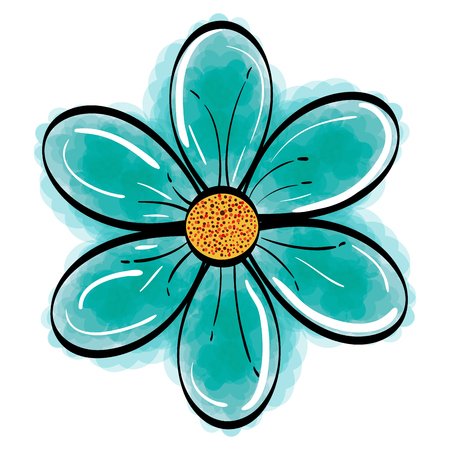 Illustration for cute flower decorative icon vector illustration design - Royalty Free Image
