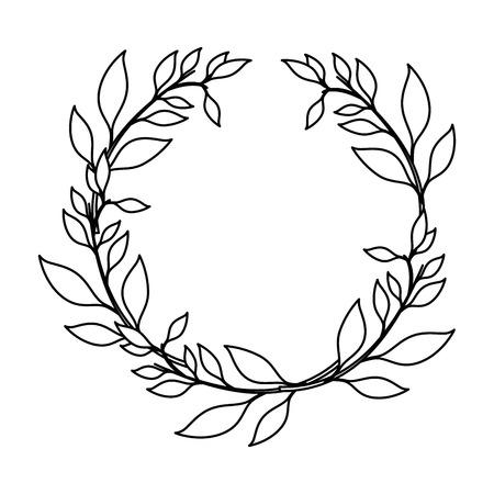 Illustration for leaf around symbol icon vector illustration graphic design - Royalty Free Image