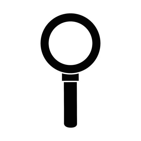 Illustration pour Magnifying glass lupe icon vector illustration graphic design - image libre de droit