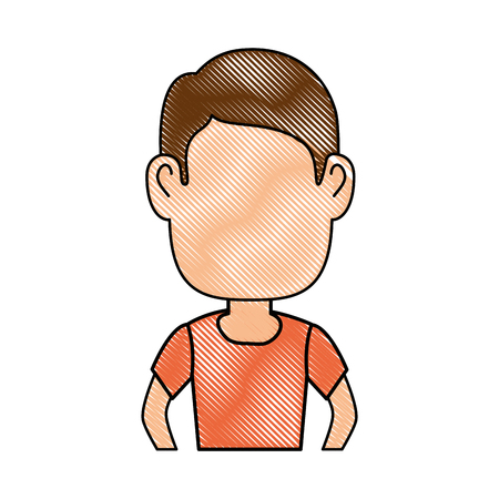 Illustrazione per Guy cartoon profile icon vector illustration graphic design - Immagini Royalty Free