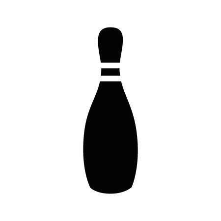 Illustration pour Bowling sport game icon vector illustration graphic design - image libre de droit