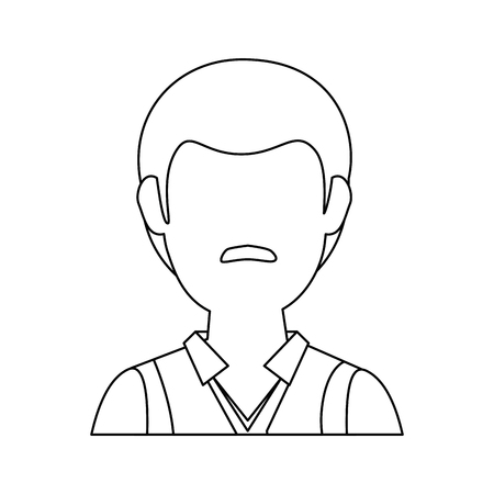 Illustrazione per man faceless avatar icon vector illustration graphic design - Immagini Royalty Free