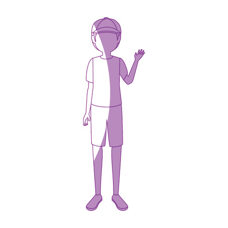 Illustrazione per Boy faceless avatar icon vector illustration graphic design - Immagini Royalty Free