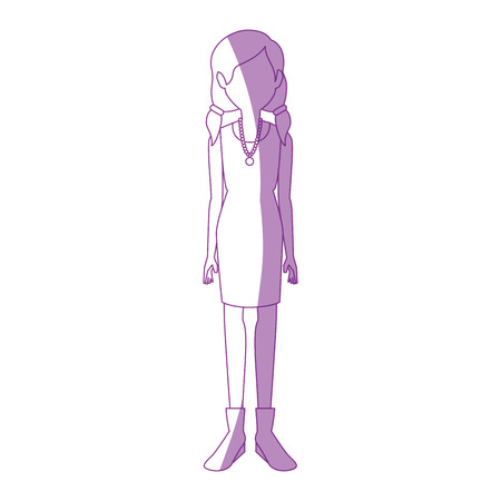 Illustrazione per young woman cartoon icon vector illustration graphic design - Immagini Royalty Free