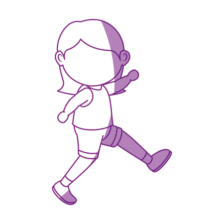 Illustrazione per Girl running cartoon icon vector illustration graphic design - Immagini Royalty Free