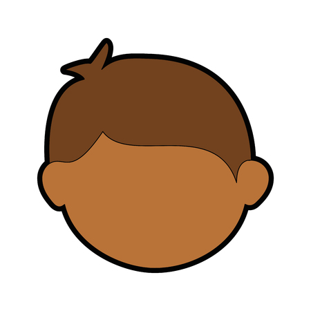 Illustrazione per boy face cartoon icon vector illustration graphic design - Immagini Royalty Free