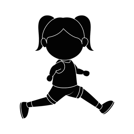 Illustrazione per Girl running cartoon icon vector graphic illustration - Immagini Royalty Free