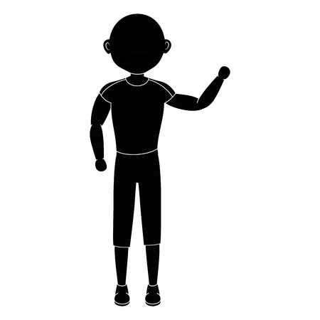 Illustrazione per stand up man cartoon icon vector illustration graphic design - Immagini Royalty Free