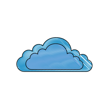 Illustration for isolated cloud cartoon icon vector graphic illustration - Royalty Free Image