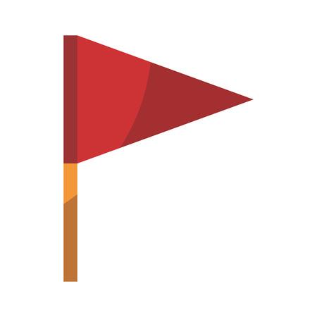 Ilustración de isolated beach flag icon vector illustration graphic design - Imagen libre de derechos
