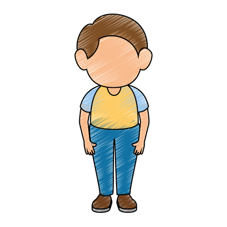 Illustrazione per boy stand up icon vector illustration graphic design - Immagini Royalty Free