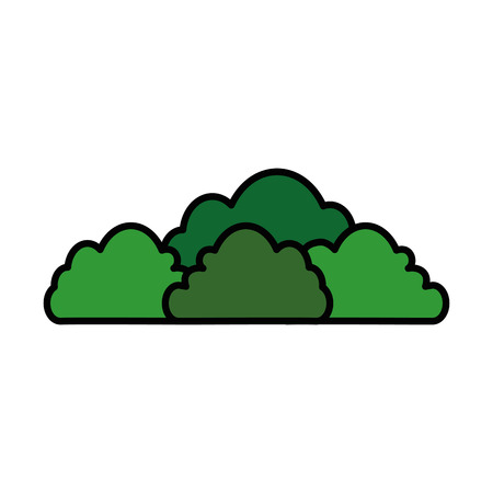 Illustration for isolated cute bush icon vector illustration graphic design - Royalty Free Image