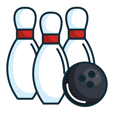 Illustrazione per bowling pines isolated icon vector illustration design - Immagini Royalty Free