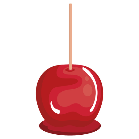 Ilustración de candy apple isolated icon vector illustration design - Imagen libre de derechos