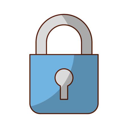 Illustration for safe secure padlock icon vector illustration design - Royalty Free Image