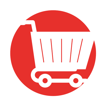 Ilustración de shopping cart isolated icon vector illustration design - Imagen libre de derechos
