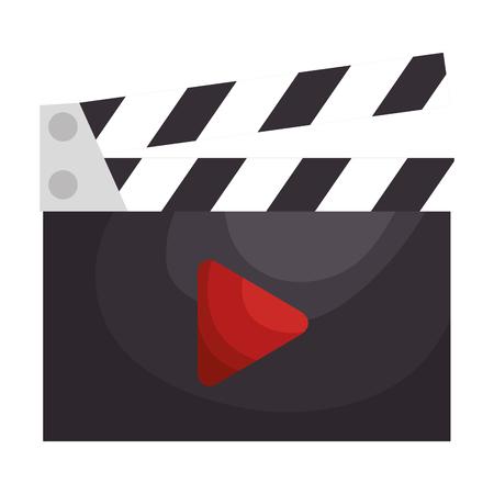 Illustration pour clapper board cinema icon vector illustration design - image libre de droit