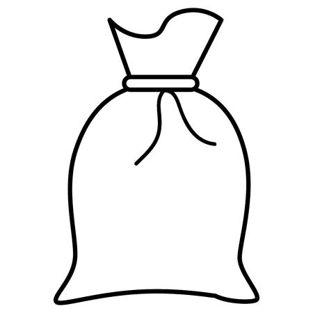 Illustration pour Fabric sack isolated icon vector illustration design - image libre de droit