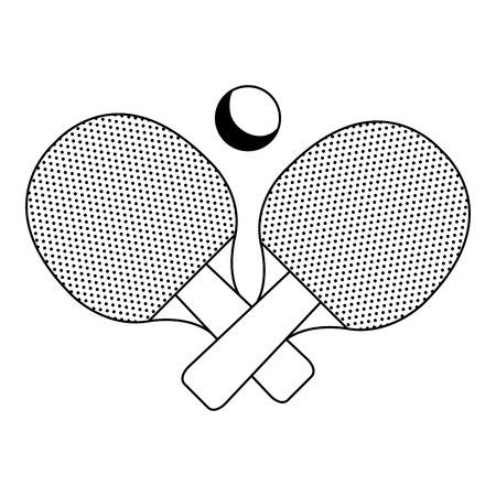 Ilustración de ping pong racket isolated icon vector illustration design - Imagen libre de derechos